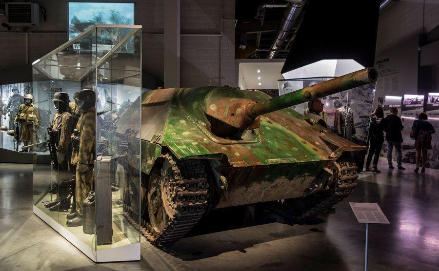 A light tank destroyer in the Bastogne War Museum.