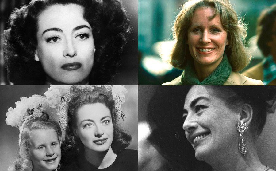 Joan Crawford / Christina Crawford / Joan Crawford, Christina Crawford / Joan Crawford.