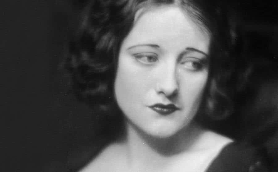 A portrait of a young Joan Crawford.