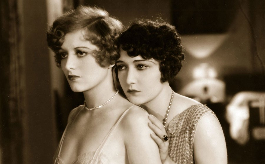 Dorothy Sebastian and Joan Crawford in a scene from the film.