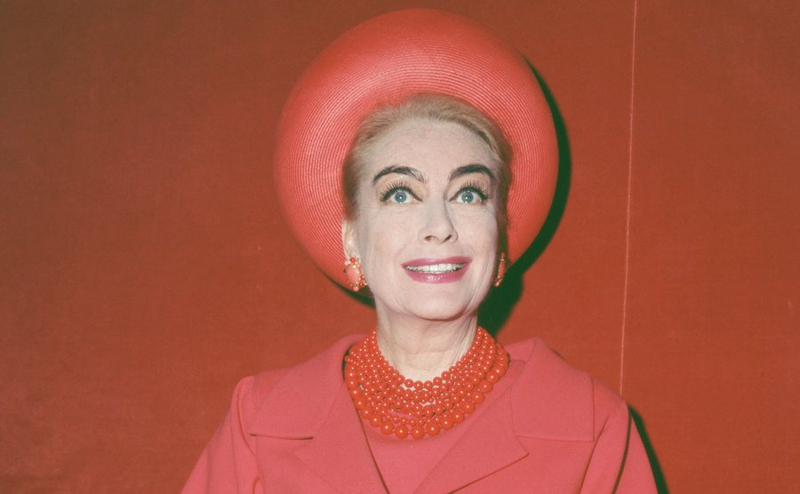 A portrait of Joan Crawford.