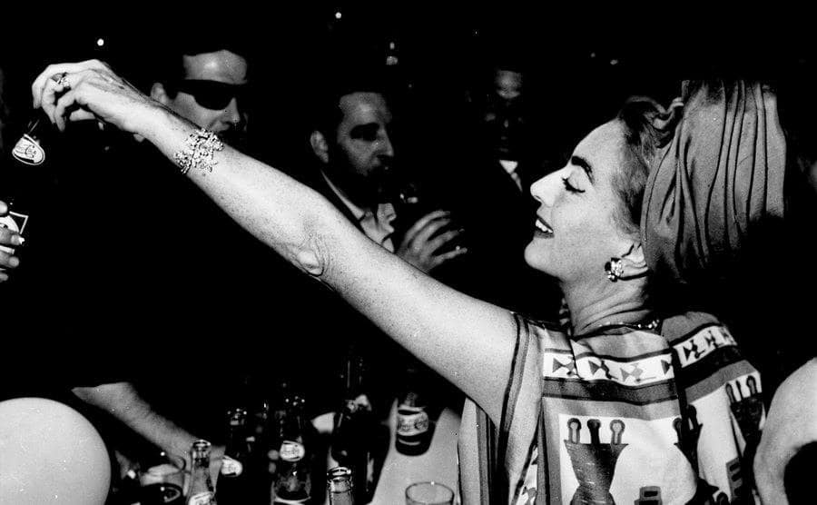 Joan Crawford at a party of Pepsi Cola.
