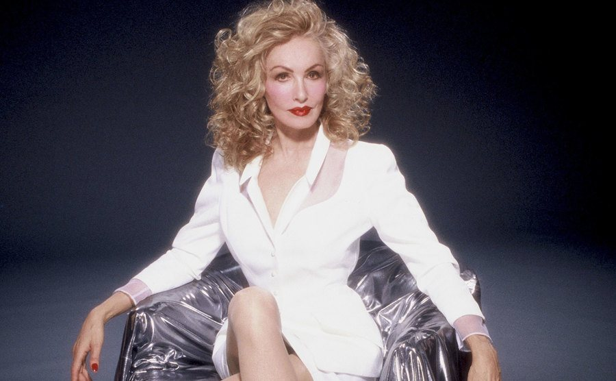 Julie Newmar poses for a portrait in 1988.