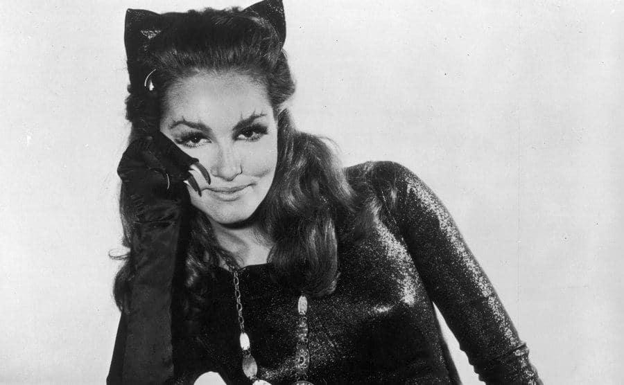 Julie Newmar as Catwoman in a promotional portrait for Batman.