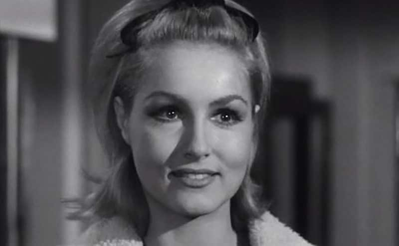 A headshot of Julie Newmar in Route 66.