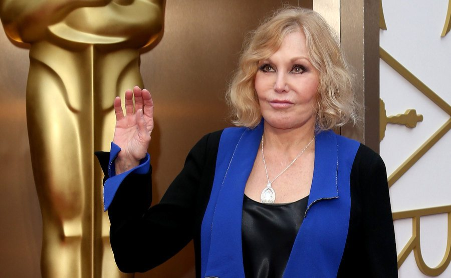 A current picture of Kim Novak at the Annual Academy Awards.