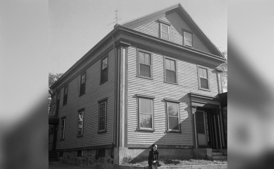 An exterior view of Lizze Borden's home.