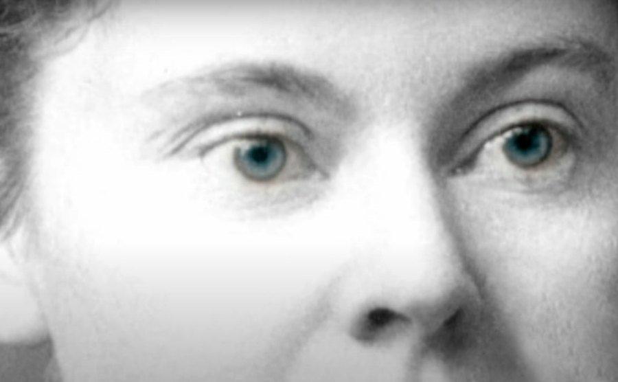 A portrait of Lizzie Borden.