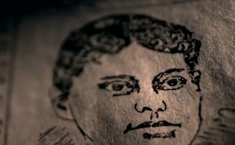 Lizzie Borden's portrait illustration.