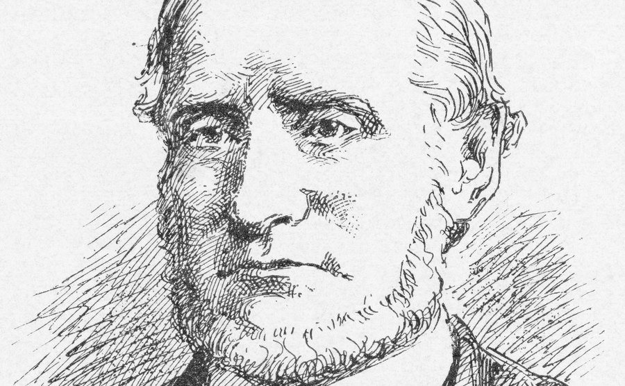 An illustrated portrait of Andrew Borden.