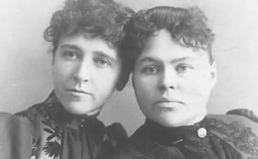 A portrait of Lizzie and her sister.