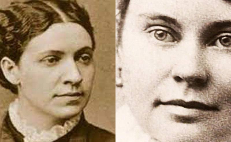 A picture of Emma Borden / A picture of Lizzie Borden.