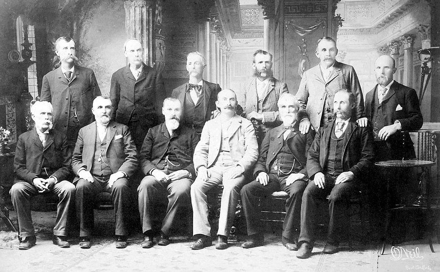 A portrait of the trial jury.