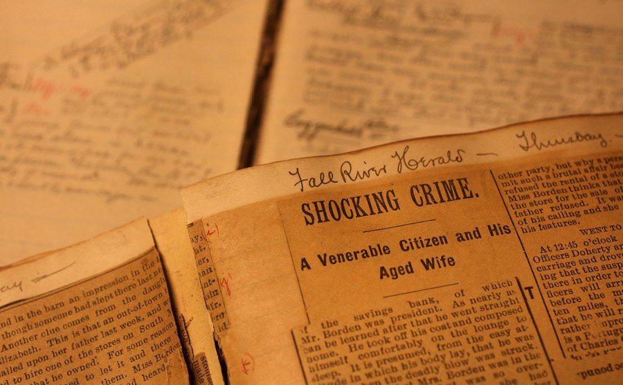 A view to the journals from Lizzie Borden's lawyer.