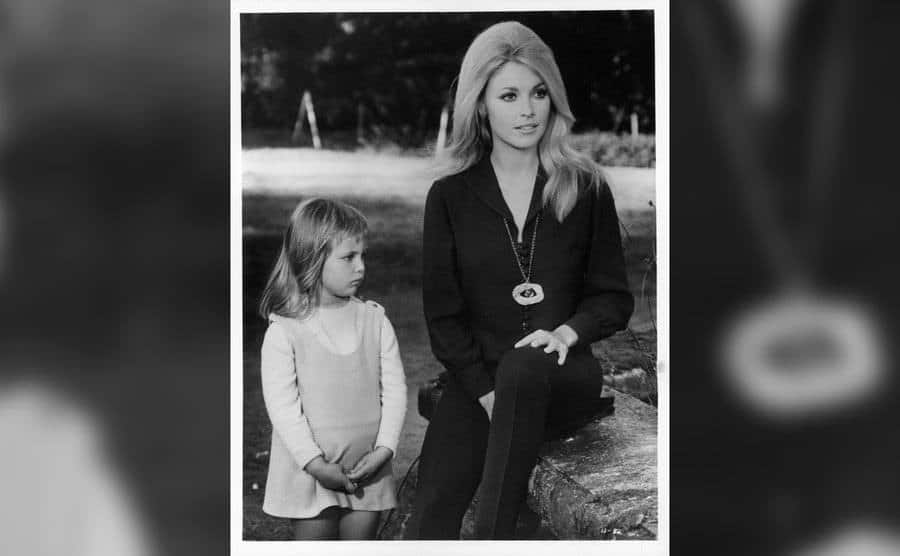 Sharon Tate in a scene from the film Eye of the Devil.