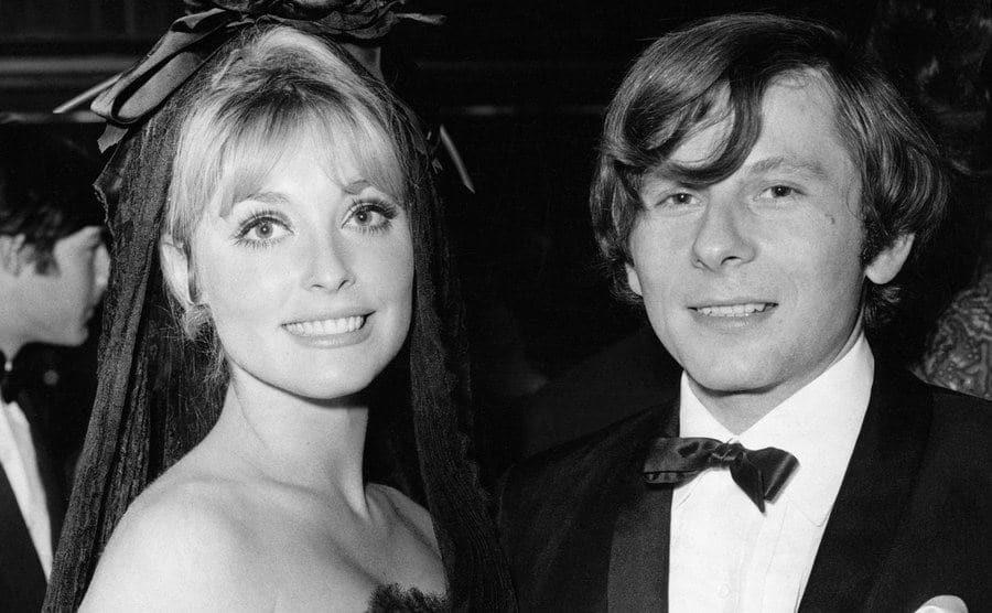 Roman Polanski with Sharon Tate at the premiere of Polanski's film Cul-de-Sac.