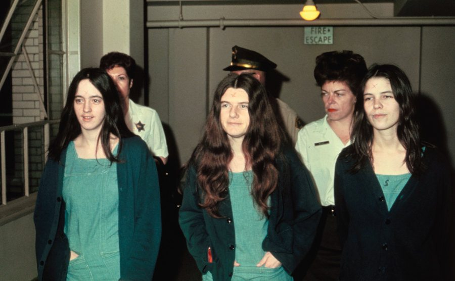 Susan Atkins, Patricia Krenwinkle, and Leslie van Houton.