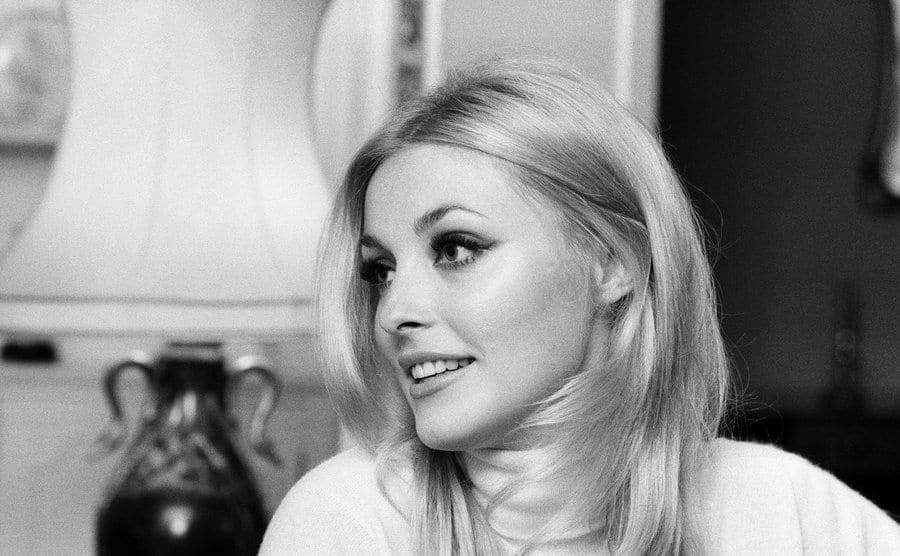 Sharon Tate pictured at her apartment in Belgravia, London.