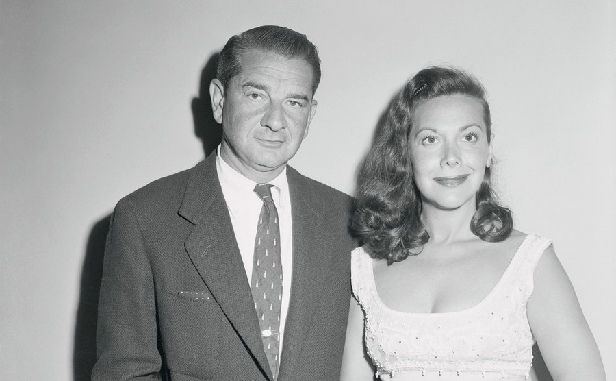 Charles Addams and his wife.