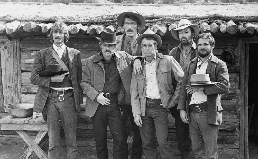 The cast of Butch Cassidy and the Sundance Kid.