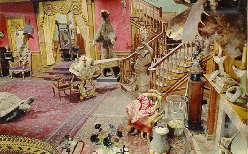 A view of the Addams family living room.
