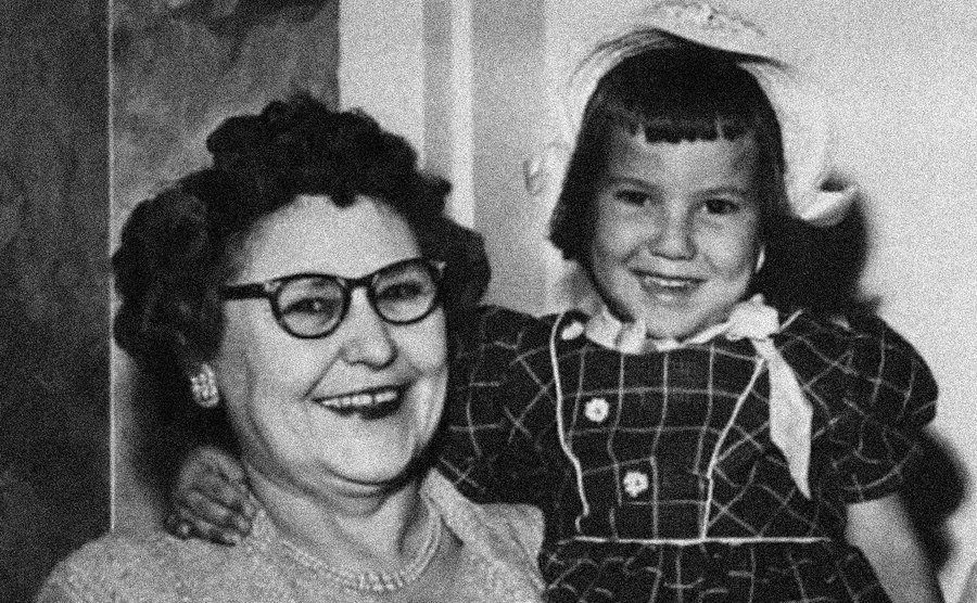 A picture of Nannie with one of her granddaughters.