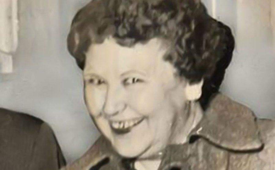 A portrait of a giggling Nannie.