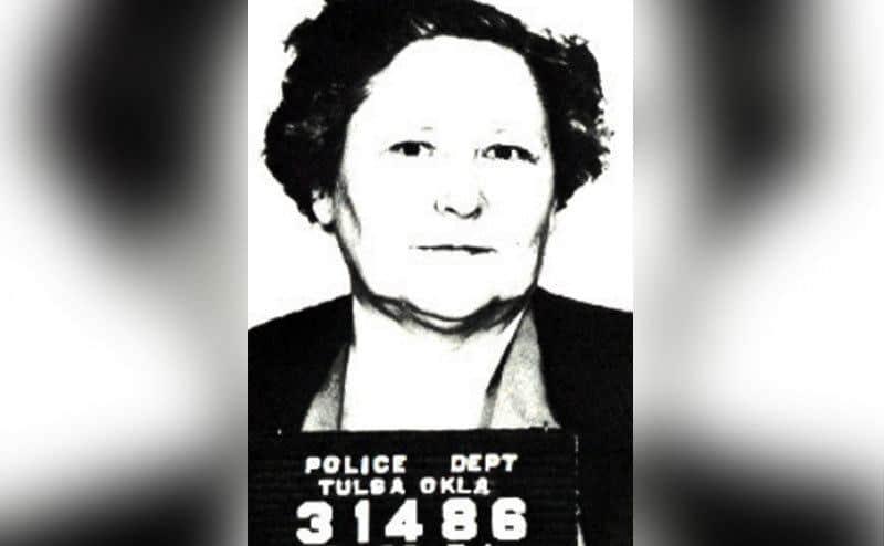A mugshot of Nannie Doss.