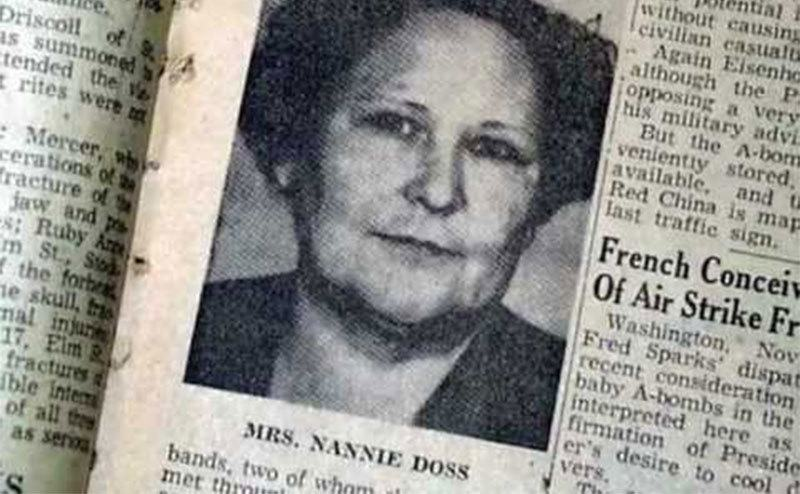 A newspaper clipping on Nannie Doss crimes.