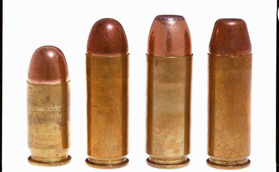 A view of four cartridges.