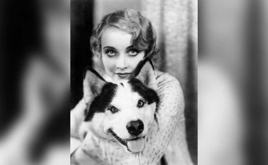 Carole Lombard and Her Dog.