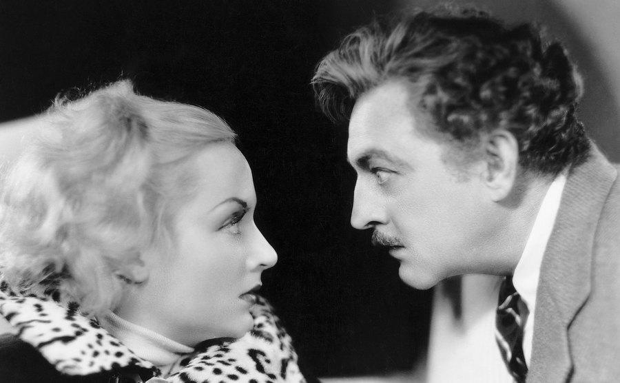 John Barrymore and Carole Lombard in a still from