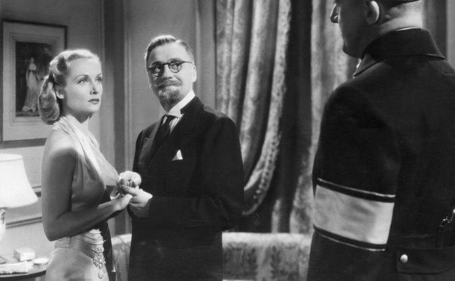 Carole Lombard and Jack Benny in a still from 'To Be Or Not To Be.'