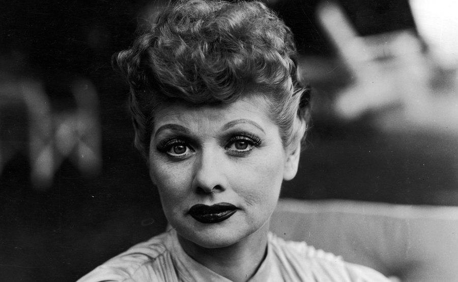 A portrait of Lucille Ball.