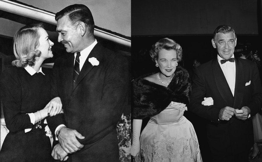 Sylvia Ashley and Clark Gable / Kay Williams and Clark Gable