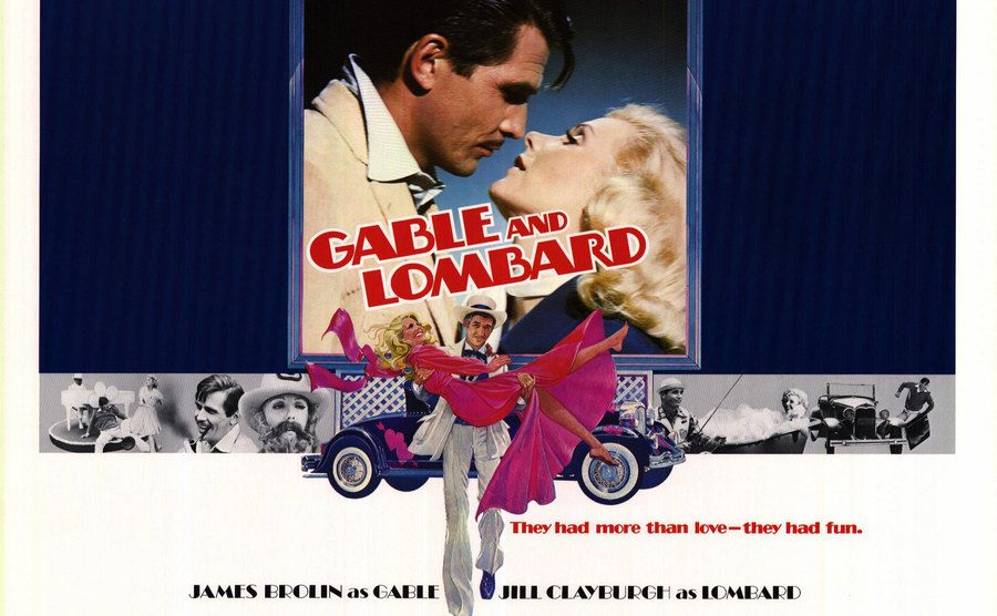 The movie poster for 'Gable and Lombard.'