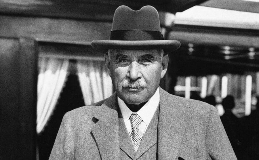 A portrait of J.P. Morgan on his yacht.
