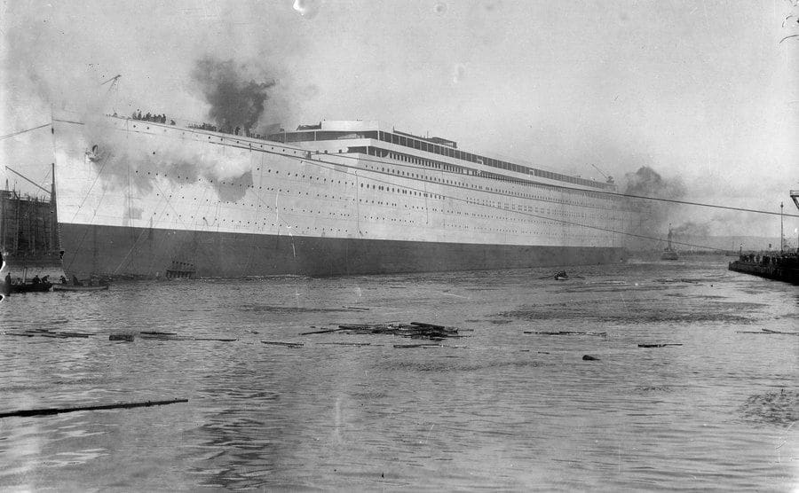 The launch of the RMS Olympic.