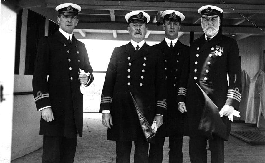 The ship officers of the RMS Olympic.