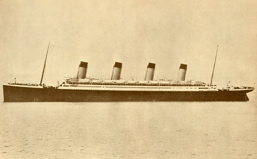 The Olympic White Star Line at sea.