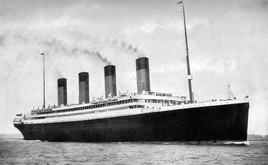 The RMS Olympic at sea.