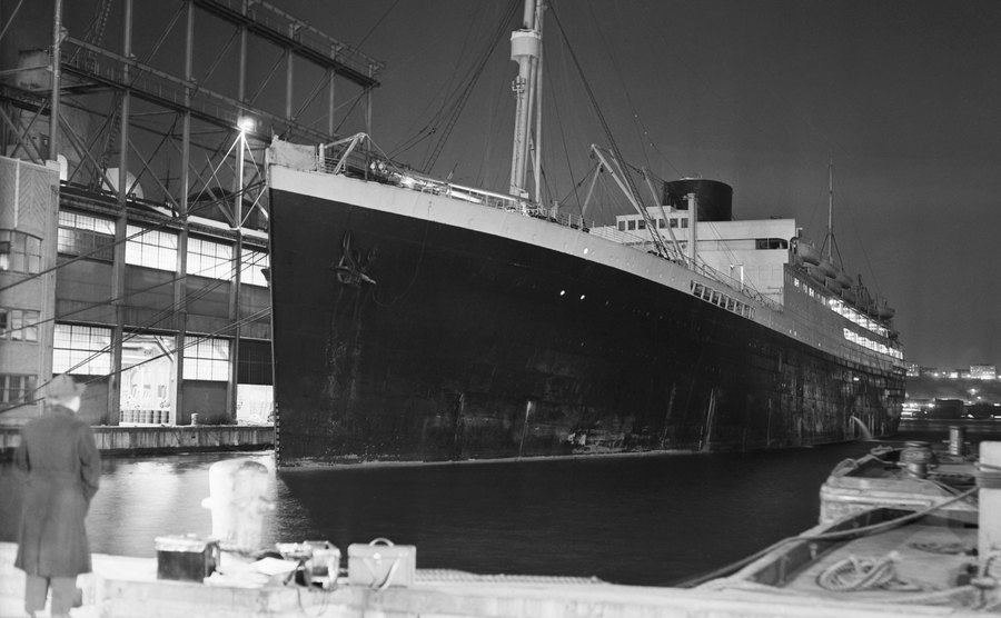 The Star Liner Britannic at the dock.