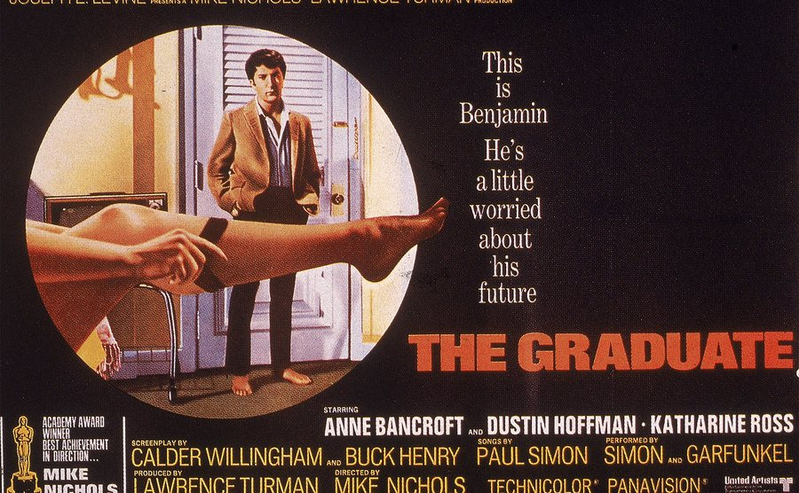 Promotional poster for the film, 'The Graduate.'