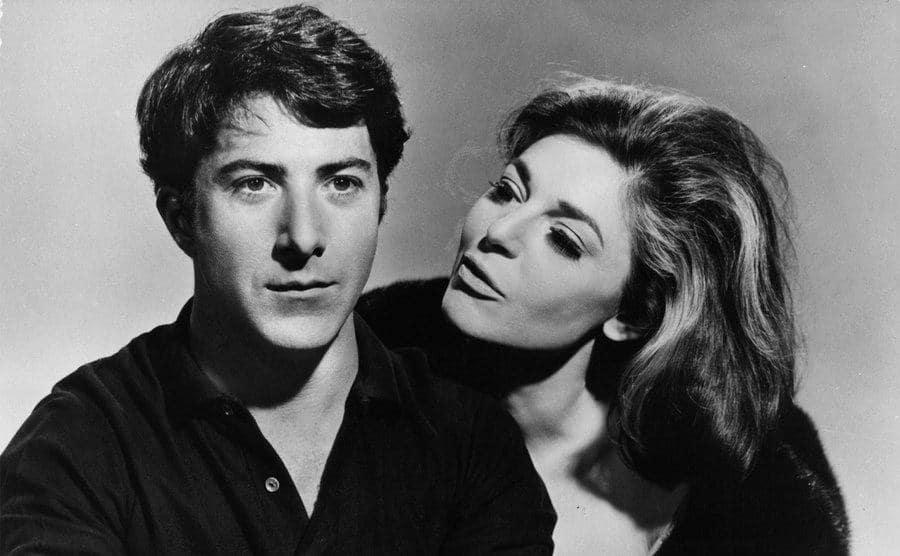 Dustin Hoffman and Anne Bancroft publicity portrait for the film 'The Graduate.'