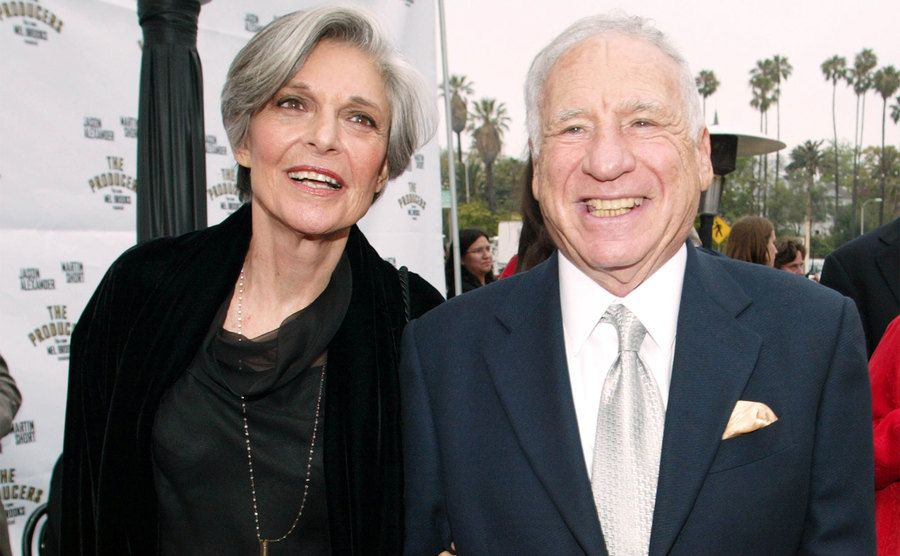 Anne Bancroft and Mel Brooks during Opening Night of
