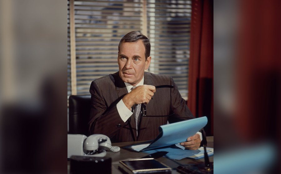 Walter Brooke appears in a scene.