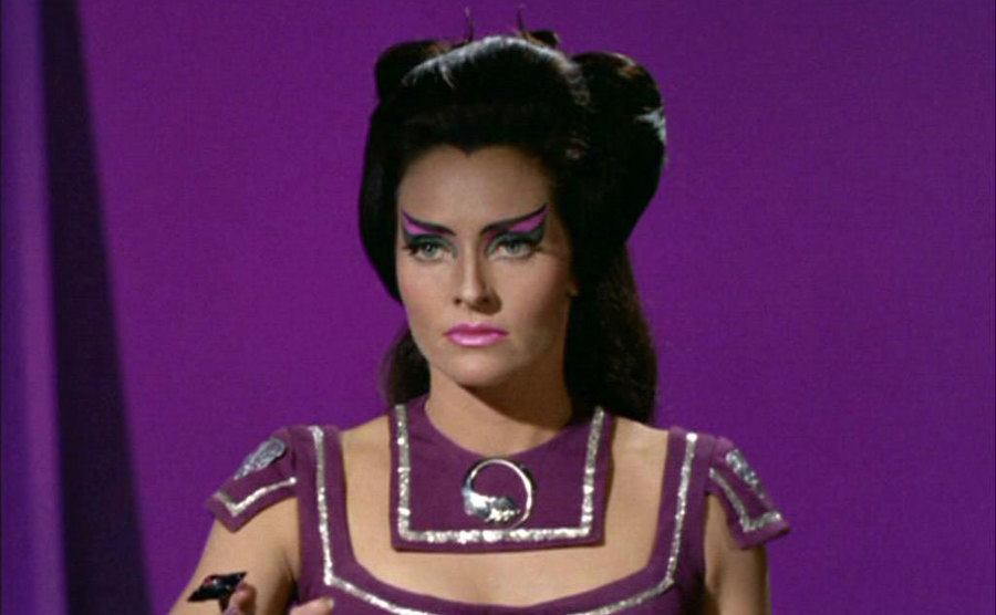 Meriwether in a cameo from Star Trek.