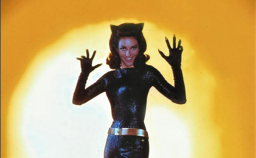 Lee Meriwether in her Catwoman costume.