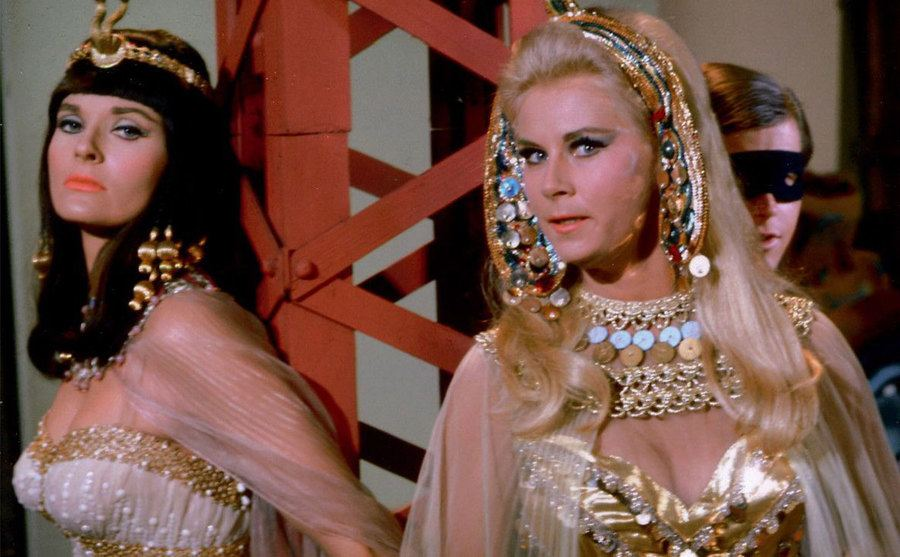 Lee Meriwether and Grace Lee Whitney in a still from King Tut's Coup.