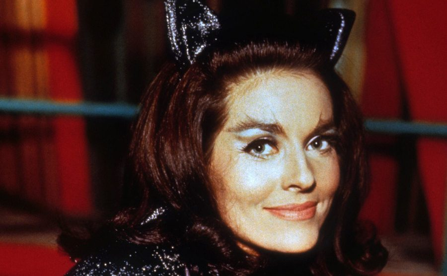 Meriwether dressed as Catwoman.